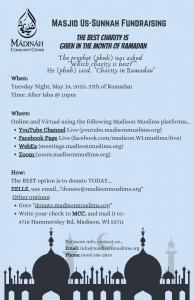 Masjid Us-Sunnah Fundraising (Online) @ Online and Virtual